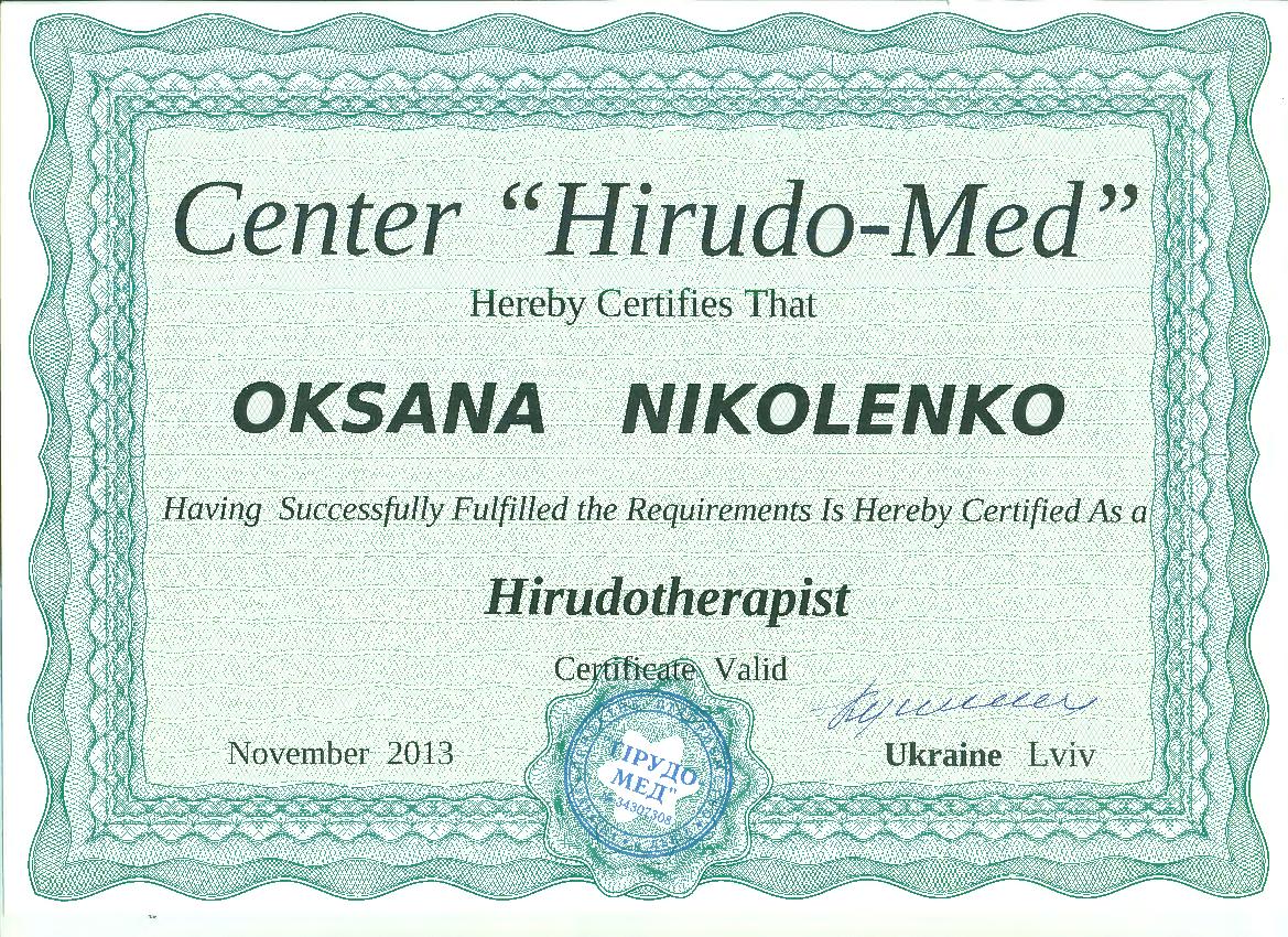 Hirudotherapy